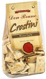 crostini black olive Don Bruno Nutrition info