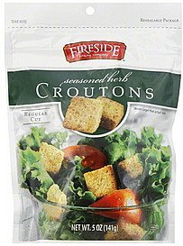croutons regular cut, seasoned herb Fireside Nutrition info