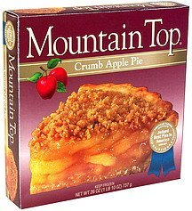 crumb apple pie Mountain Top Nutrition info