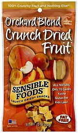 crunch dried fruit orchard blend Sensible Foods Nutrition info