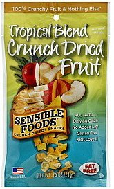 crunch dried fruit tropical blend Sensible Foods Nutrition info