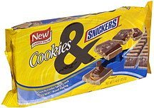 crunchy cookie squares snickers, family pack Cookies Nutrition info