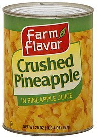 crushed pineapple in pineapple juice Farm Flavor Nutrition info
