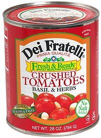 crushed tomatoes, basil & herbs Dei Fratelli Nutrition info