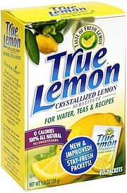 crystallized lemon substitute True Lemon Nutrition info