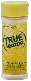 crystallized lemon True Lemon Nutrition info