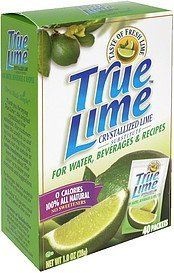 crystallized lime substitute True Lime Nutrition info