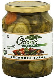 cucumber salad organic Othentic Nutrition info
