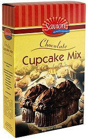 cupcake mix with frosting, chocolate Savion Nutrition info