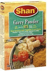 curry powder mix Shan Nutrition info