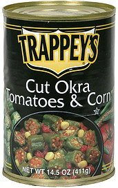 cut okra, tomatoes & corn Trappeys Nutrition info