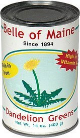 dandelion greens Belle of Maine Nutrition info