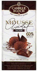 dark chocolate 60%, chocolate mousse Camille Bloch Nutrition info