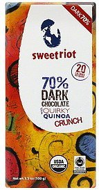 dark chocolate 70% Sweetriot Nutrition info