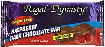dark chocolate bar raspberry, sugar free Regal Dynasty Nutrition info