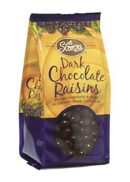 dark chocolate raisins Sconza Nutrition info
