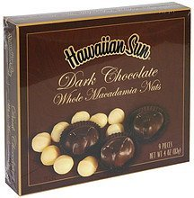 dark chocolate whole macadamia nuts Hawaiian Sun Nutrition info