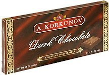 dark chocolate A. Korkunov Nutrition info