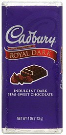 dark chocolate Cadbury Nutrition info