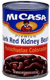 dark red kidney beans Mi Casa Nutrition info