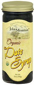 date syrup organic John Mountain Nutrition info