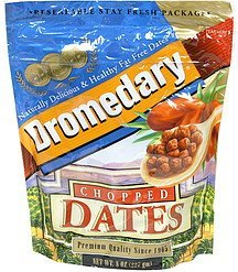 dates chopped Dromedary Nutrition info
