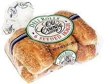 deli rolls seeded hoagie Old Country Nutrition info