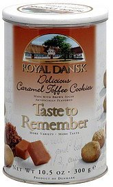 delicious caramel toffee cookies Royal Dansk Nutrition info