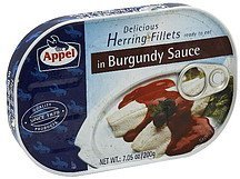 delicious herring fillets in burgundy sauce Appel Nutrition info