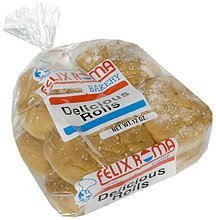 delicious rolls Felix Roma Nutrition info