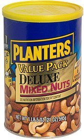 deluxe mixed nuts value pack Planters Nutrition info