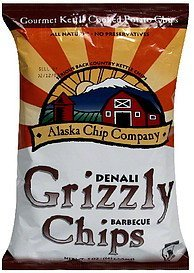 denali grizzly chips barbecue Alaska Chip Company Nutrition info