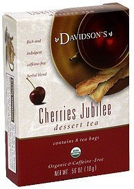 dessert tea cherries jubilee Davidsons Nutrition info