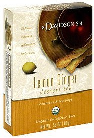 dessert tea lemon ginger Davidsons Nutrition info