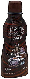 dessert topping dark chocolate flavored syrup Guittard Nutrition info
