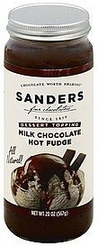 dessert topping milk chocolate hot fudge Sanders Nutrition info