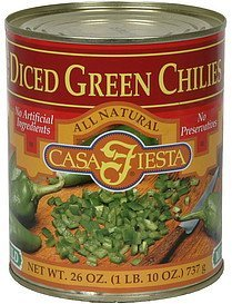 diced green chilies mild Casa Fiesta Nutrition info