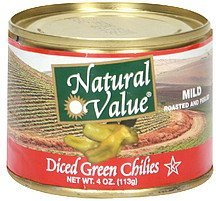 diced green chilies mild Natural Value Nutrition info