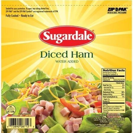 diced ham Sugardale Nutrition info