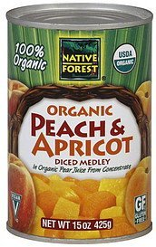 diced medley organic peach & apricot Native Forest Nutrition info