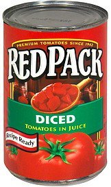 diced tomatoes in juice Red Pack Nutrition info