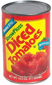 diced tomatoes, original style SnowFloss Nutrition info