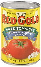 diced tomatoes roasted garlic & onion Red Gold Nutrition info