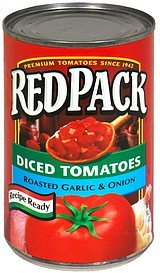 diced tomatoes, roasted garlic & onion Red Pack Nutrition info