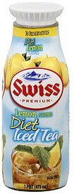 diet iced tea lemon flavored Swiss Premium Nutrition info