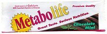 dietary supplement, chocolate mint Metabolife Nutrition info