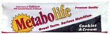 dietary supplement, cookies & cream Metabolife Nutrition info