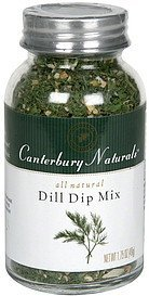 dill dip mix Canterbury Naturals Nutrition info