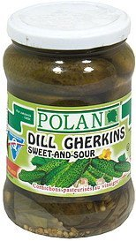 dill gherkins sweet and sour Polan Nutrition info