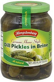 dill pickles german home style, in brine Hengstenberg Nutrition info